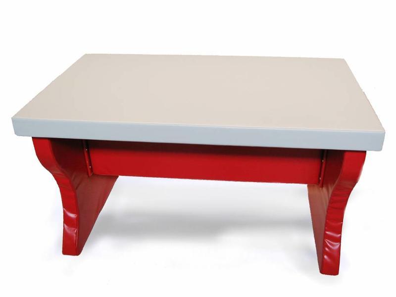 Atelier Michel Koene Zacht beklede tafel, Bisonyl   140 x 80 x 78cm