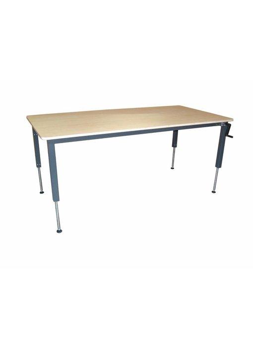 Hoog/laag tafel AMK hydraulisch Blad Ecoplex HPL 19mm wit