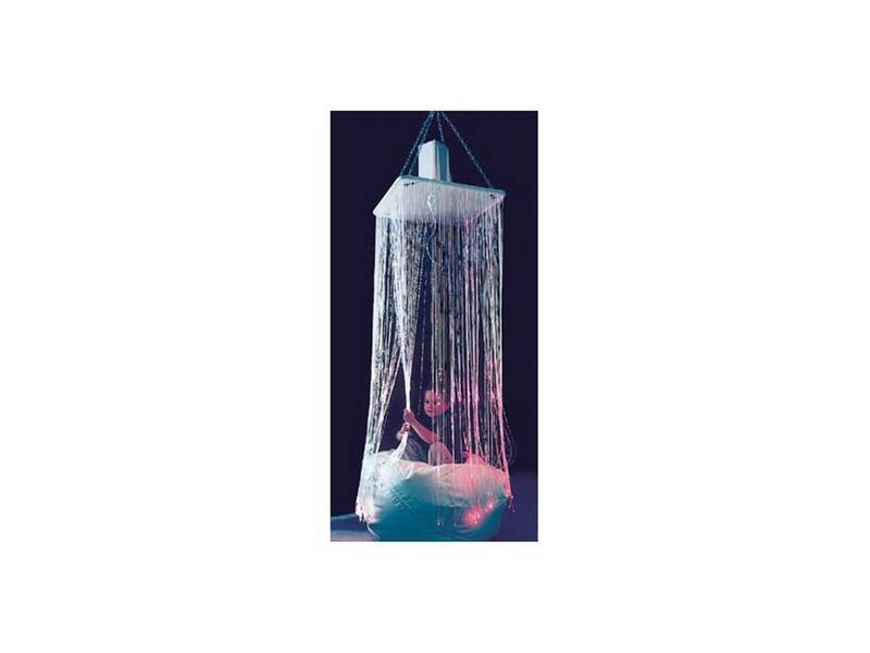 Vezelneveldouche Fibre Optic waterval UV   60x60x125cm