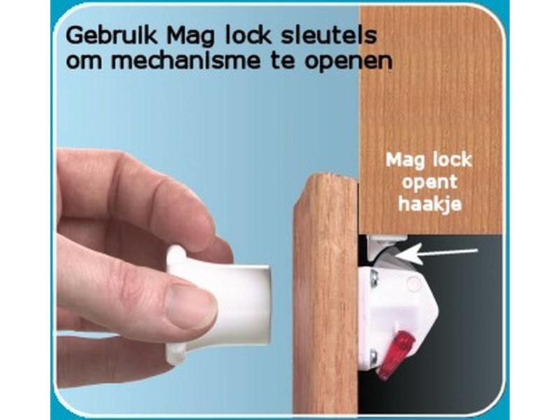 Veiligheidsslot deur- Mag Lock- set van 2 st en 1 sleutel