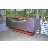 Bedcarrier- verrijdbaar dmv grote wielen   165 x 70cm, slag 45cm