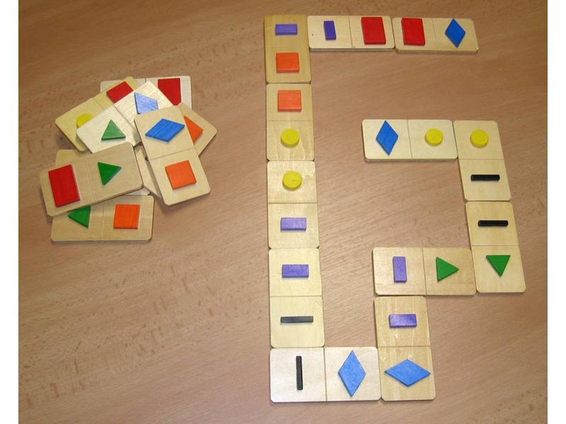 Spel Tast Domino Groot- vormen