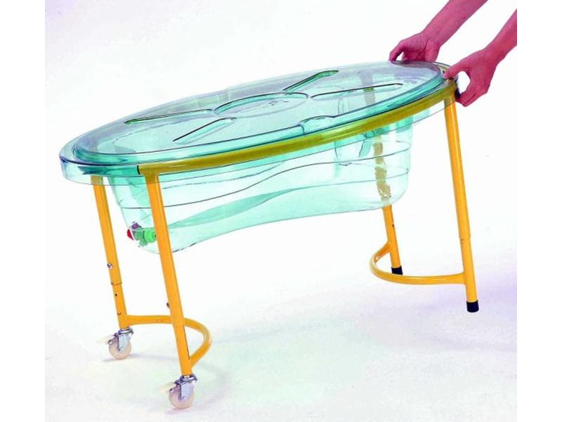 Zandwatertafel transparant met deksel   89 x 63cm, hoog: 44-58cm