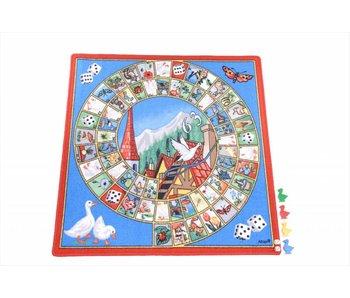 Spelkleed Ganzenbord inclusief speelstukken