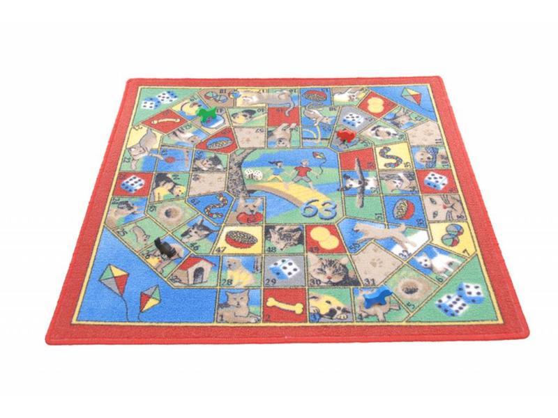 Spelkleed Hond en kat inclusief speelstukken   92x92cm