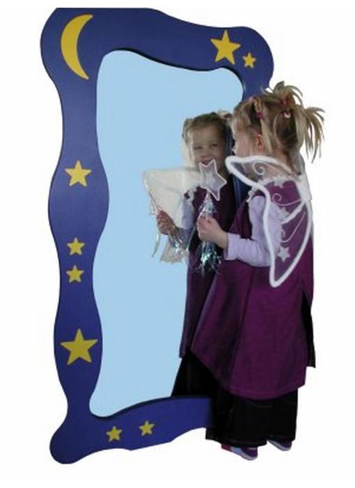 Wandspiegel sterren en maan acrylaat