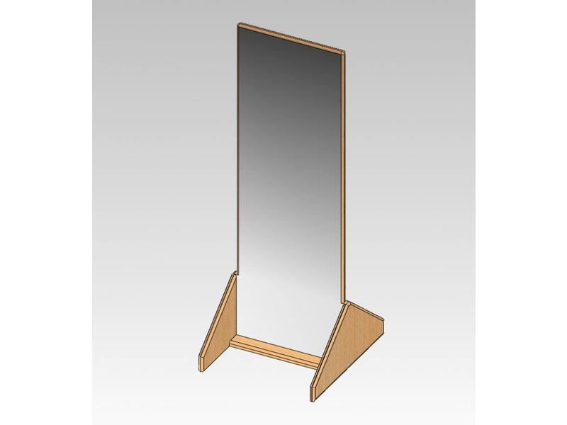 Atelier Michel Koene Passpiegel vast, acrylaat   120 x 40cm
