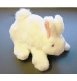 Handpop Baby Konijntje- wit   20cm