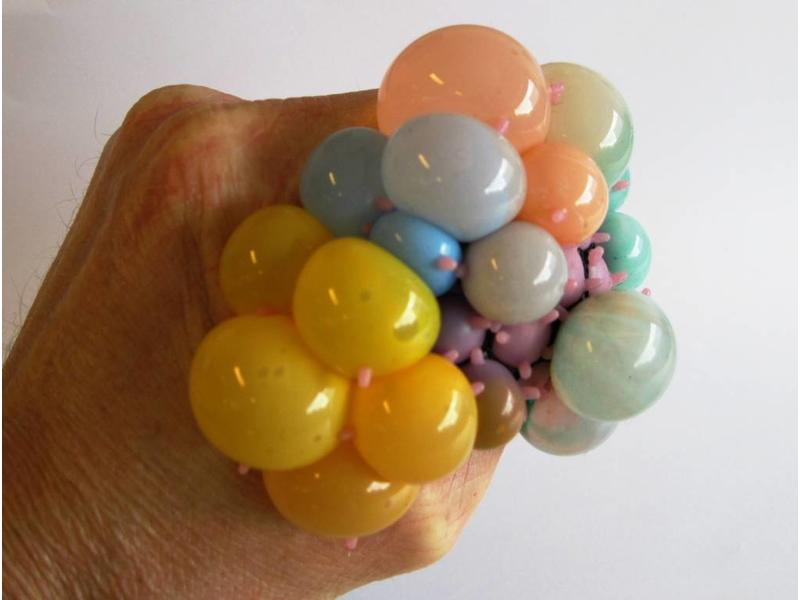 Squishy Meshball Rainbow   Ø7,5cm