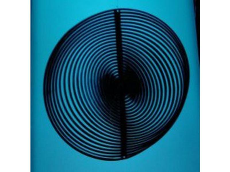 Mobiel rond zilver en blauw  Ø12cm