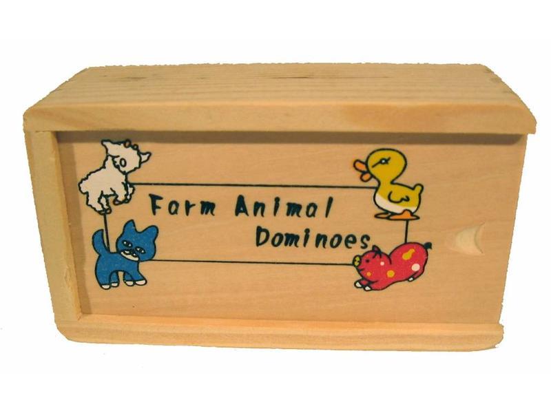Spel Domino met boerderijdieren