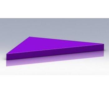 Tafelblad driehoek zacht bekleed