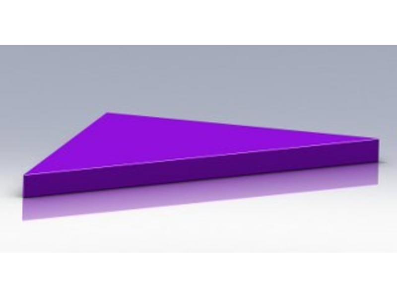 Atelier Michel Koene Tafelblad driehoek zacht bekleed   120x120