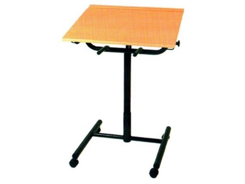 Schooltafel met gaslift verstelbaar blad   hoog 61-100, blad 80 x 65cm