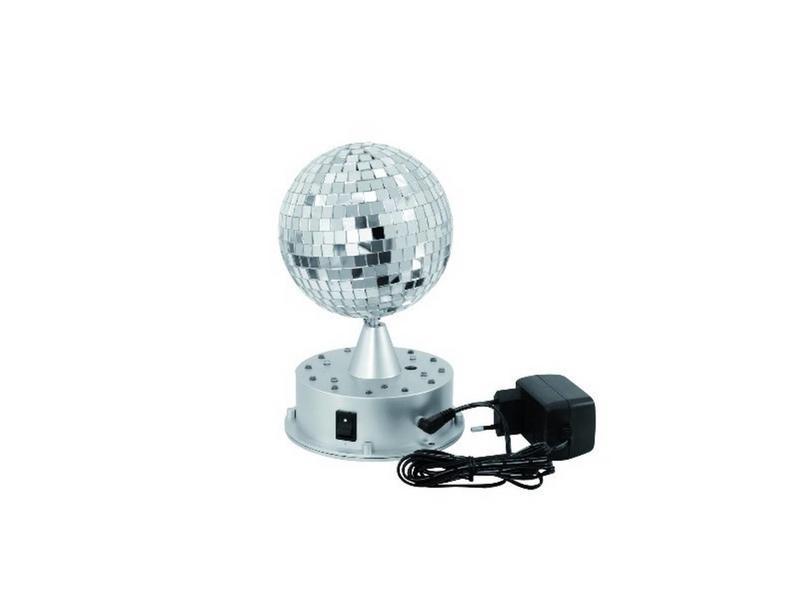 LED spiegelbol op voet   Ø13cm