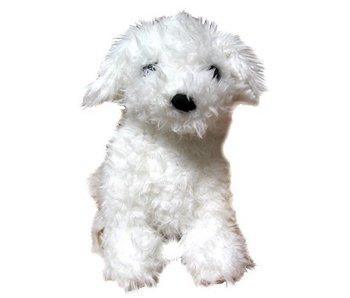 Handpop witte hond Westie