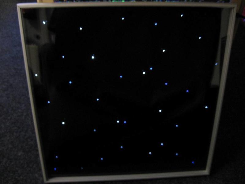 Tegel met sterrenhemelllichtjes   60 x 60cm