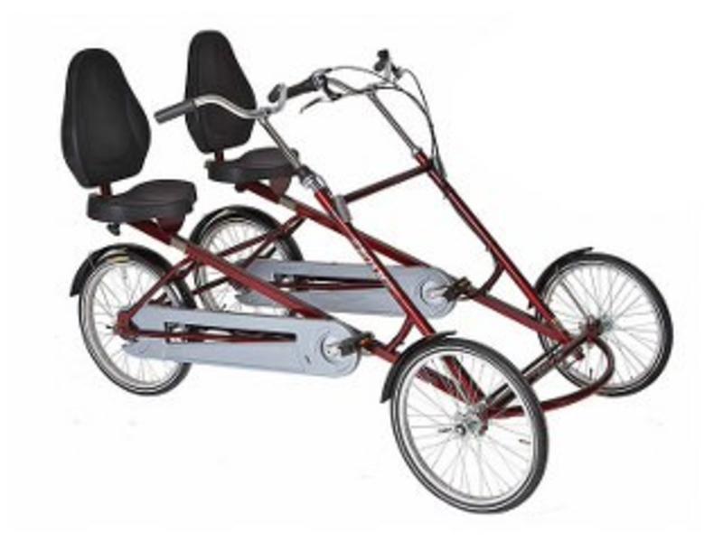 Roam Roam Twinbike met zitjes