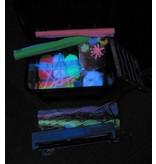 Atelier Michel Koene Blackbox gevuld met fluormaterialen