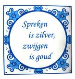 Spreekwoorden tegels set   30 x 30 cm, 3 st