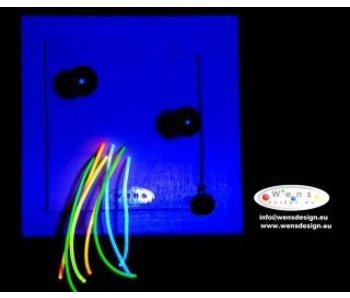 WensDesign Fluoline kralen plank