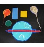 Zachte figuren t.b.v. Raamverduistering/wandmat   10 x 20 / 20 x 30cm