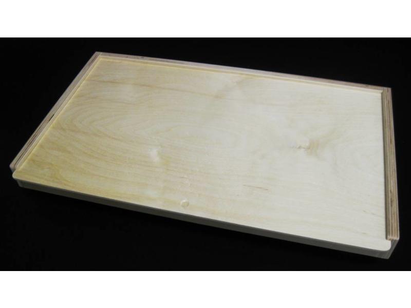 Vier op een rij hout   45x27cm