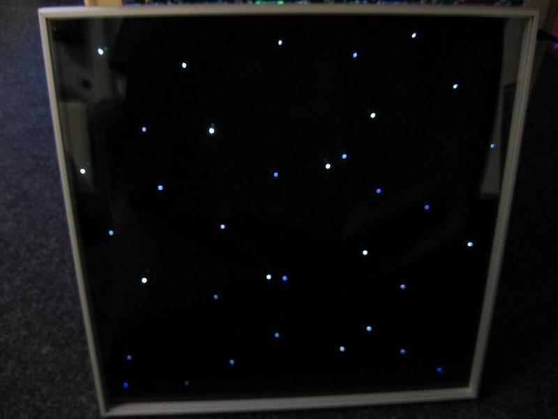 Tegel met sterrenhemellichtjes en besturing   60 x 60cm