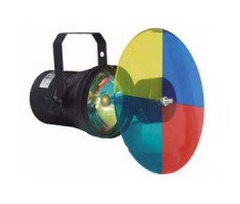 Puntspot- incl lamp- kleurenwiel en motor