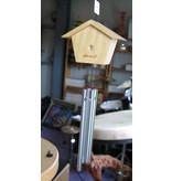Windchime klein- vogelhuisje   9,5cm