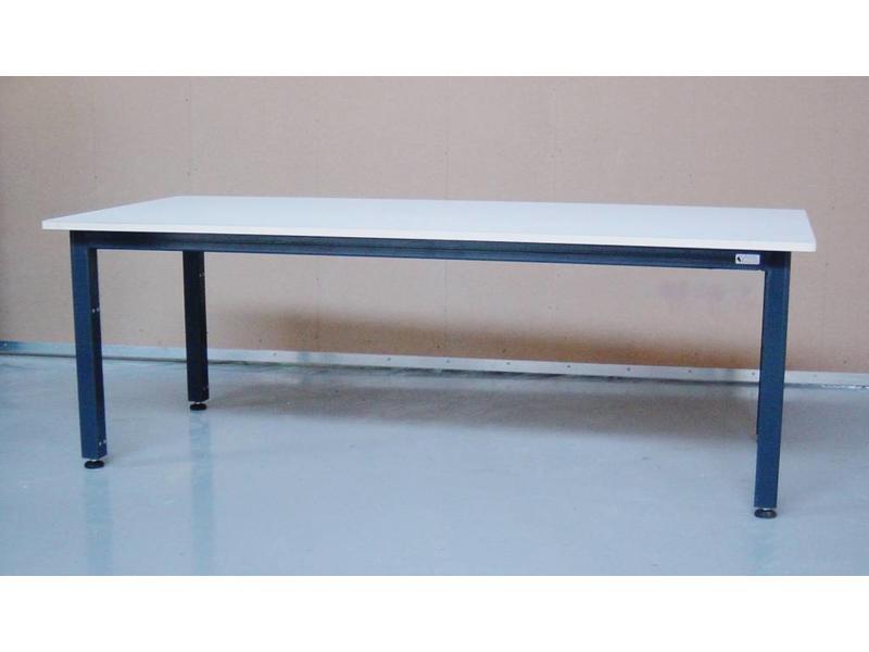 Atelier Michel Koene Tafel AMK, Ecoplex 19mm blad wit HPL   t/m 160 x 100cm
