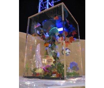 Meerprijs Blacklightaquarium inbouw in podium