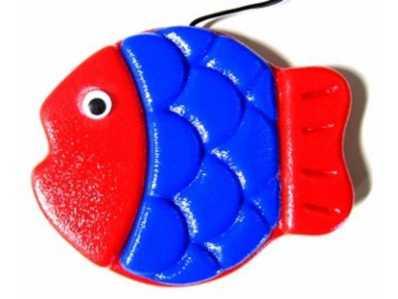 Animal Switch Rood Hoofd Vis- schakelaar   14x11,5x2,5cm