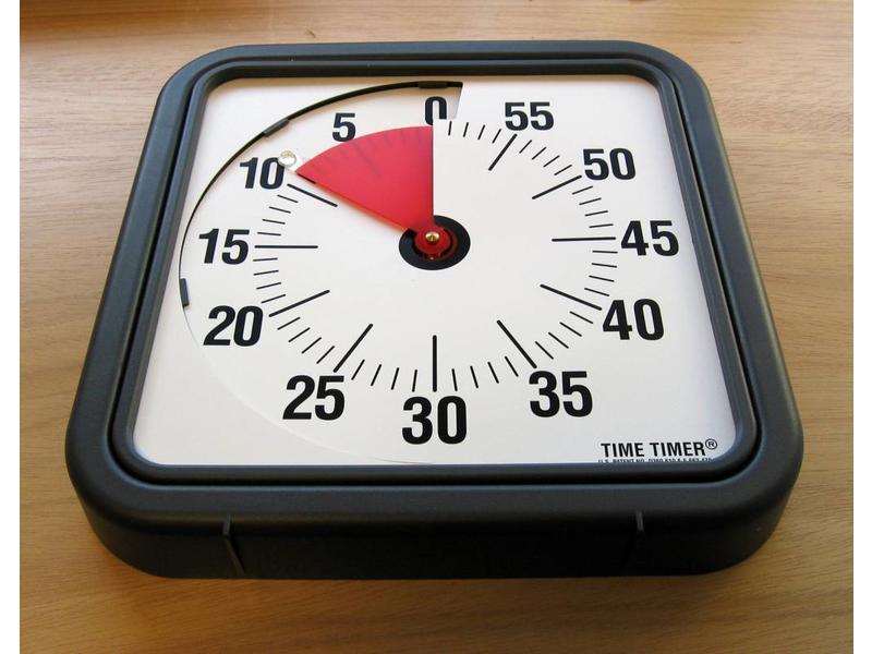 Time timer wandmodel   30 x 30cm