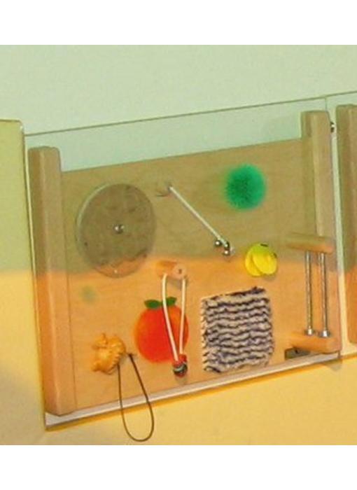 Speelplaathouder enkel, wandbevestiging