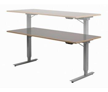 Easydesk hoog/laag tafel met blad