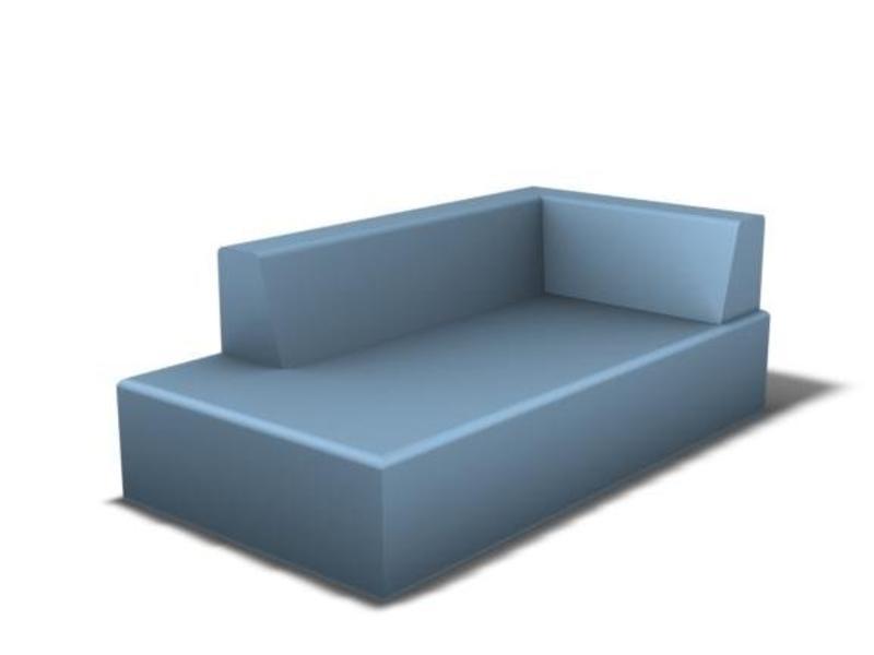 LUGANO - Lounge 1,8m, zacht gecoat schuim