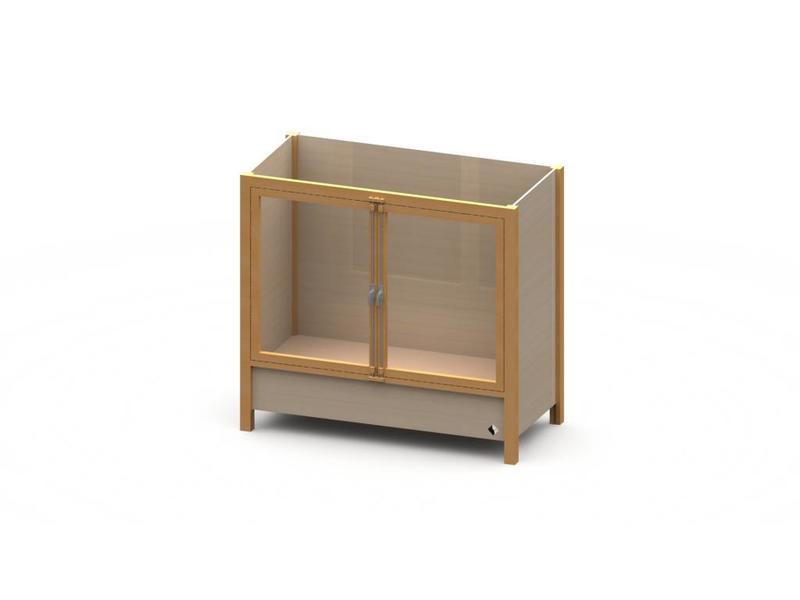 Atelier Michel Koene Bed Ûle met hoog-laag bodem (maatwerk)