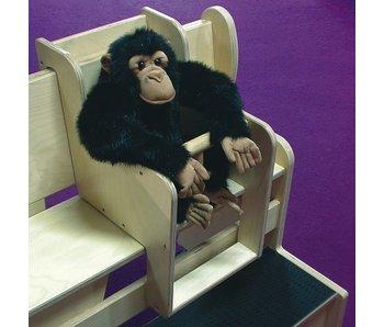 Babyzitje voor houten zitbank DEMO