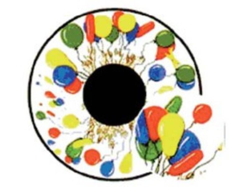 "OPTIkinetics Effectwiel 6"" thema: Balloons"