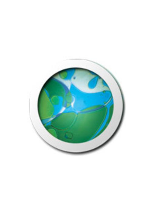 Vloeistofwieltje Space-Projector blauw/groen