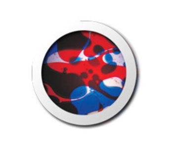 Vloeistofwieltje Space-Projector blauw/rood