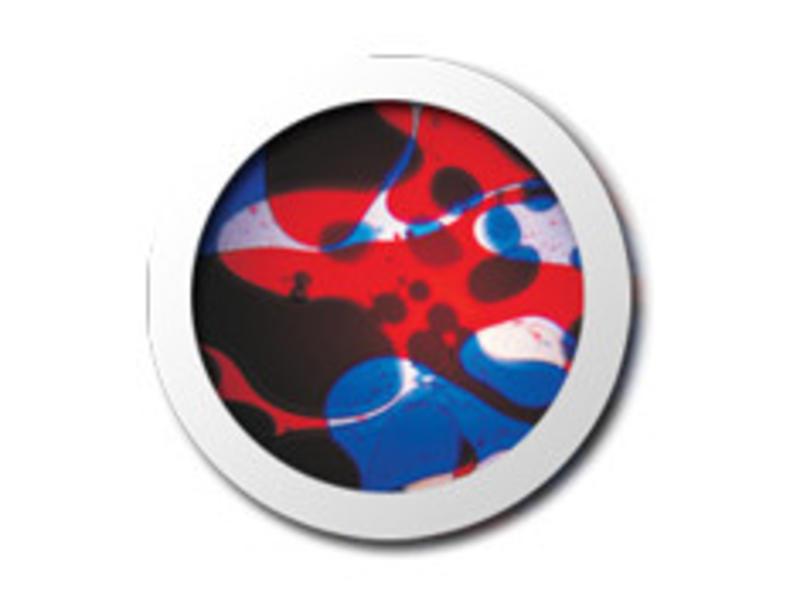 Mathmos Vloeistofwieltje Space-Projector blauw/rood