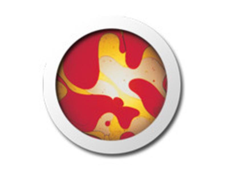 Mathmos Vloeistofwieltje Space-Projector rood/geel