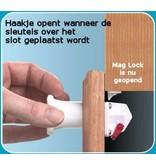 Veiligheidsslot deur- Mag Lock- set van 4 st en 1 sleutel