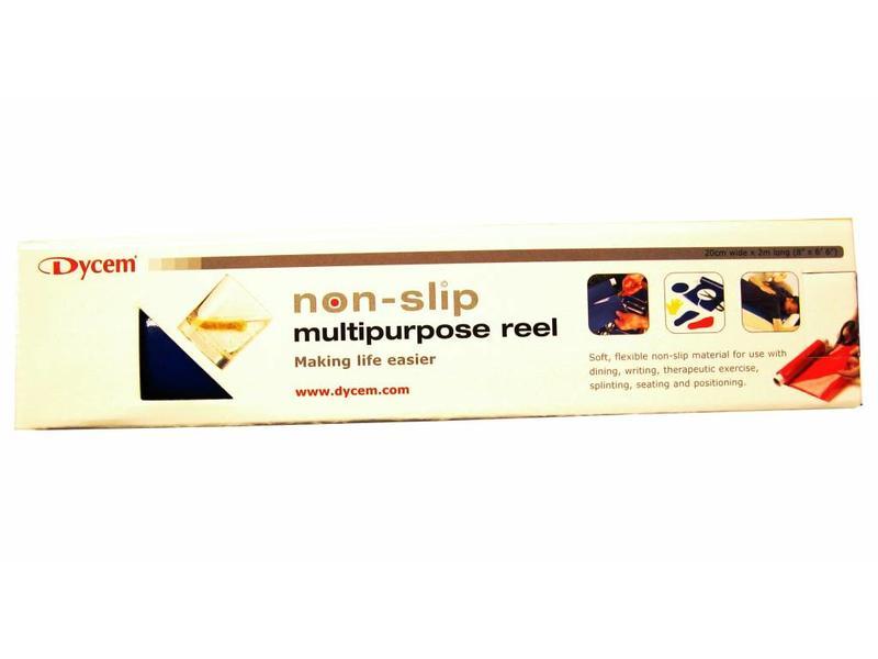 Dycem antislipfolie 2m x 20cm blauw of rood