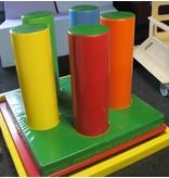 Atelier Michel Koene Speelbos mat met gaten en lussen, 5 cilinders, Bisonyl DEMO