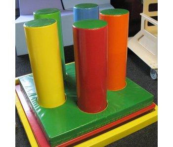 Speelbos mat met gaten en lussen, 5 cilinders, Bisonyl DEMO
