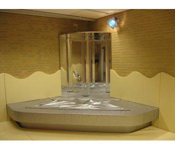 Zachte snoezelhoek waterbedtrilvloer in podium, Bisonyl