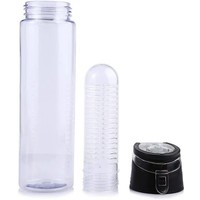 Waterfles met fruit filter | Zwart | BPA Vrij | Fruit Infuser